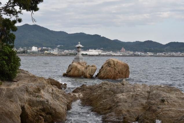 竹島八景 川獺岩,かわうそいわ